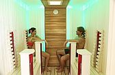 Infra sauna in Barack Thermal Hotel in Tiszakecske