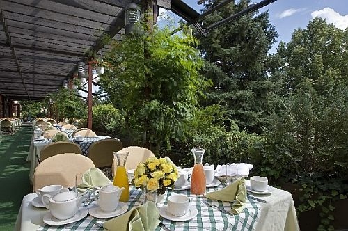 Danubius Health Spa Resort Sarvar - 4-star thermal hotel in Sarvar - terrace - spa hotel in Sarvar